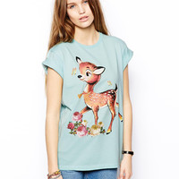Sky Blue Little Deer T-Shirt