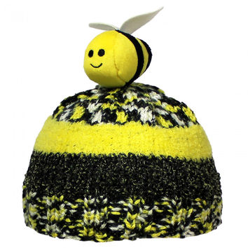 DMC Top This Metallic Bumblebee Hat Kit Crochet or Knit