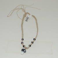 Necklace Hemp Mushroom Black