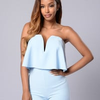 Perfect Harmony Romper - Blue