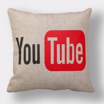 Youtube  Video Culture Pillow Throw Emoji Body Pillow Massage Case Cover Decorative Gift Home Decor Internet Popular Web App