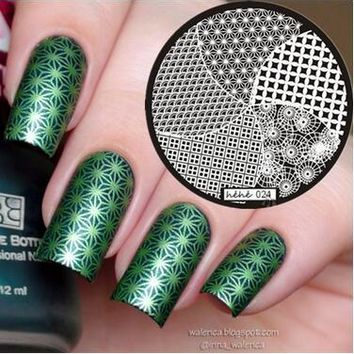 Circle Square Wave Nail Art Stamp Template Image Plate hehe024, Free shipping