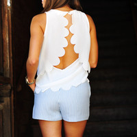Half Shell Scallop Tank Top: White | Hope's
