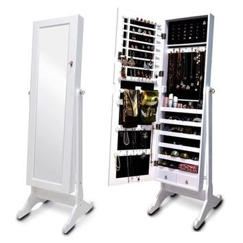 Free Standing Mirror Jewelry Armoire