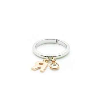 Silence of Cubic Zircon, R edition Ring