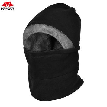 Vbiger  Winter Neck Warmer Hiking Caps Hat Outdoor Cyling Ski Mask Face Cover Thick Windproof Balaclavas for Men and Women