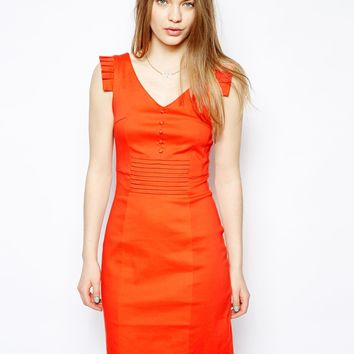 Yumi Fitted Dress with Button Detailing