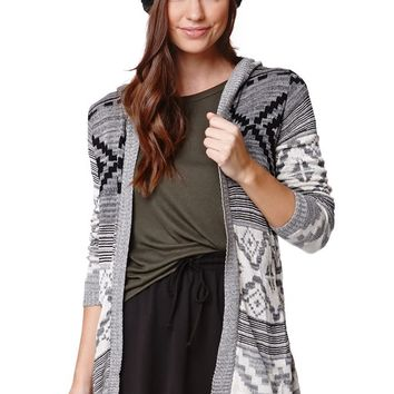 LA Hearts Intarsia Tunic Maxi Cardigan - Womens Sweater