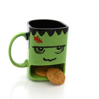 Frankenstein Cookie Dunk Mug, Halloween Monster
