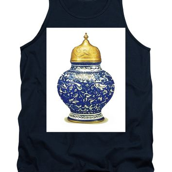 An Ottoman Iznik Style Floral Design Pottery Polychrome, By Adam Asar, No 9a - Tank Top