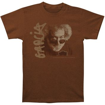 Jerry Garcia Men's  Eyes Portrait T-shirt Brown