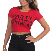 Party Like Its Your Birthday Crop Top