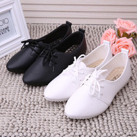 New Arrive Women Four Seasons 2017 Fashion PU Leather Single Shoes Female Casual Slip On Comfort Shoes Low-heeled Shoes Loafers