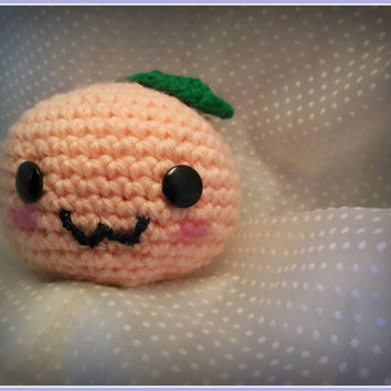 Kawaii Summer Peach Amigurumi