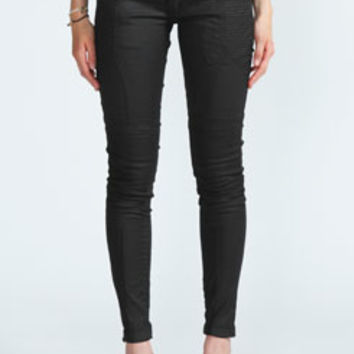 Dolly Basic Wax Coated Skinny Jeans