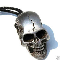Gothic Skull Silver Pendant Necklace