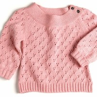 Egg Baby Girl Yoke Sweater