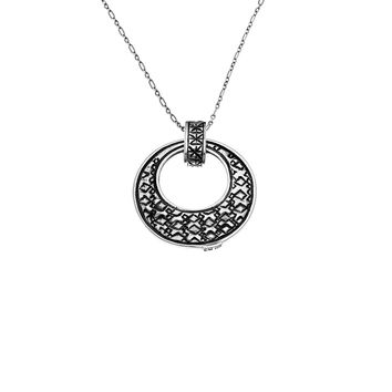 Wiener Werkstatte Reversible Circle Necklace