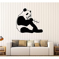 Vinyl Wall Decal Funny Panda Animal Positive Room Decor Stickers Unique Gift (302ig)