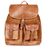 Embossed Suede Backpack - Backpacks - Bags & Wallets - Bags & Accessories - Topshop USA