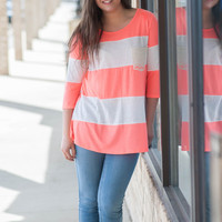 Lacey Pocket- Coral