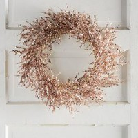 Rosy Wreath by Anthropologie in Pink Champagne Size: One Size Holiday