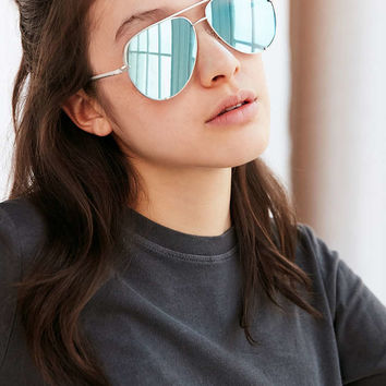 Quay X Desi Perkins High Key Aviator Sunglasses - Urban Outfitters