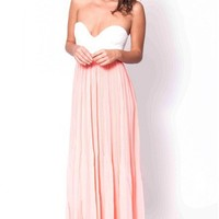 Sweet Talk dress in peach  | Show Pony Fashion online shopping