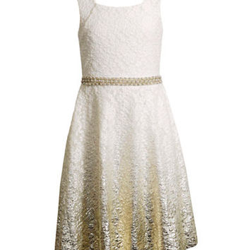 Bloome Girls 7-16 Foil Print Party Dress