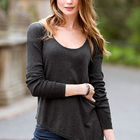 Asymmetrical-hem Tunic Sweater - Victoria's Secret