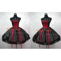 ping Sissy Maid Gothic Lolita Punk Ball Gown Dress Cosplay Costume Tailor-made Alternative Measures - Brides & Bridesmaids - Wedding, Bridal, Prom, Formal Gown