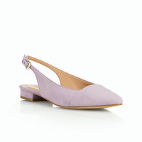 Edison Slingback Flats-Suede - Talbots