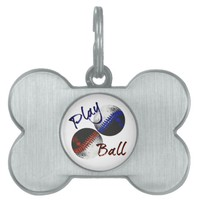 Play Ball Pet ID Tag