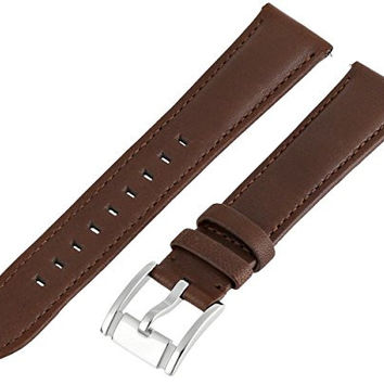 Fossil Women's S181051 Heirloom Leather 18mm Watch Strap - Dark Brown