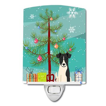 Merry Christmas Tree Smooth Fox Terrier Ceramic Night Light BB4223CNL