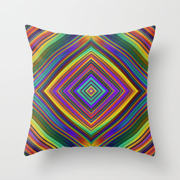 Sparkly Diamond Throw Pillow by Lyle Hatch