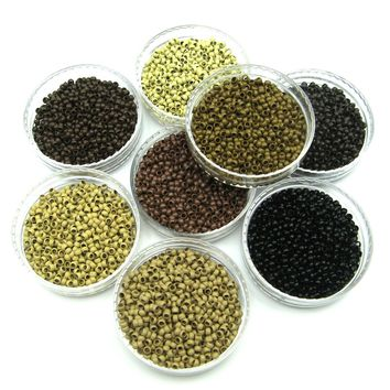 50/100/200/250/500/1000 Nano Micro Rings Beads For Use With Nano Hair Extensions