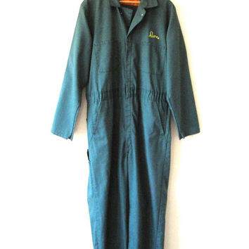 Vintage DON Mechanic Durable Press Workwear COVERALLS Sz 42