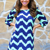 Everything Is A Blur Chevron Dress | Hope's
