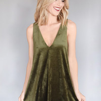 Mistletoe Velvet Dress