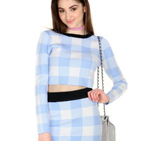 PASTEL PICNIC CROP TOP