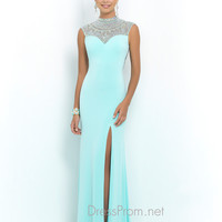 Blush Cut Out Back Prom Dress 9988