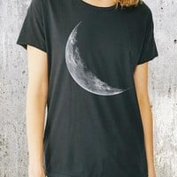 Women's Crescent Moon Relaxed Fit T-Shirt