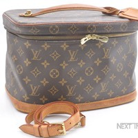 Auth Louis Vuitton Monogram Nice 2way Cosmetic Hand Bag Vanity M47280 LV 40542
