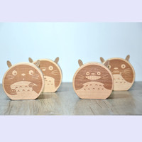 Cartoons Cats Music Box Wooden Creative Birthday Gifts Home Decor [6282381318]