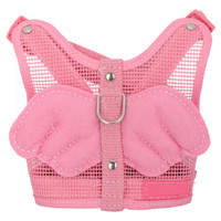 Adjustable Angel Net Dog Safety Harness Leash S-size Pink - Default