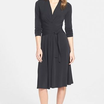 Women's MICHAEL Michael Kors Faux Wrap Fit & Flare Dress,