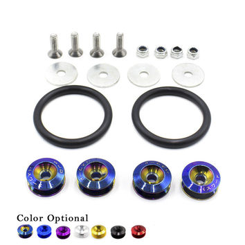 Neo chrome Quick Release Fasteners are ideal for front bumpers, rear bumpers, and trunk / hatch lids /Fender Washers