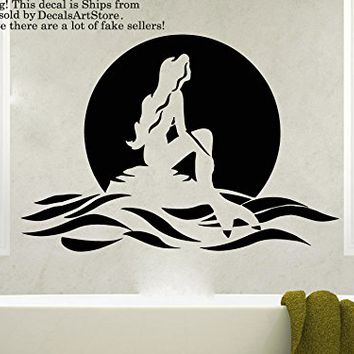 Wall Decals Vinyl Mermaid Stickers Wall Art Sea Ocean Bathroom Home Decor Art Mural Nursery Kids Bedroom Dorm Interior SM209