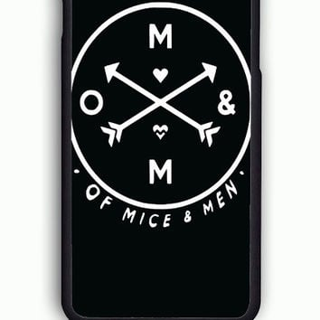 iPhone 6 Case - Hard (PC) Cover with OF MICE AND MEN BAND LOGO  Plastic Case Design